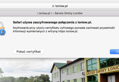loniow.pl z certyfikatem SSL